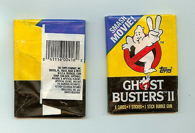 1989 topps Ghost Busters II single  Wax Pack