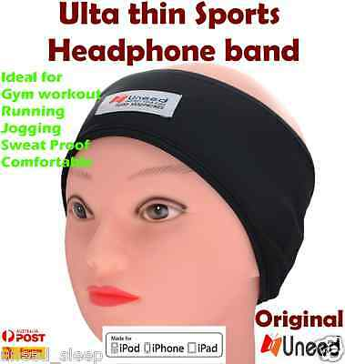 Sports Head Phones Headband Lycra Soft Sleep Headphones - Mobiles MP3 Ultra thin
