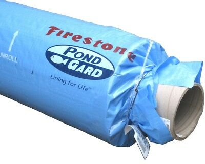Full Roll 15.25m x 4.57m wide Firestone PondGard EPDM Rubber Pond Liner (1.02mm)