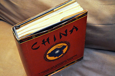 Large China Minkus Album with Mint and Used Stamps +180 Pictures
