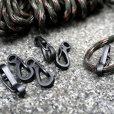 10Pcs Mini Black Buckle Snap Spring Clip Hook Carabiner Backpack Tactical Tool