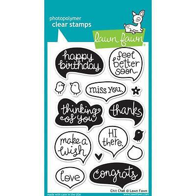"""Lawn Fawn - Clear Stamps - 4""""x6"""" Chit Chat"""