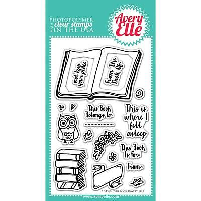 "Avery Elle - Clear Stamps - 4""x6"" This Book"