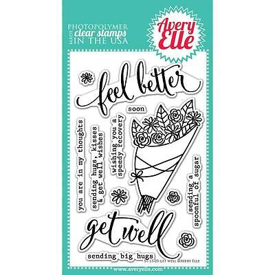 "Avery Elle - Clear Stamps - 4""x6"" Get Well"