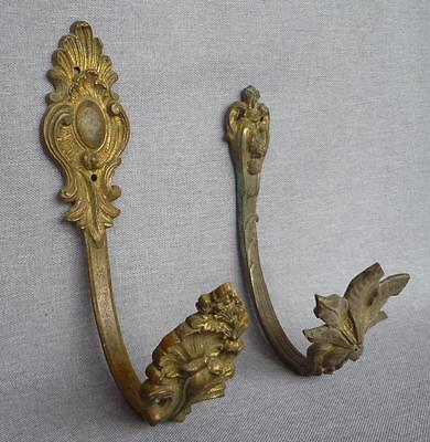 2 antique french hooks hangers made of bronze 19th century
