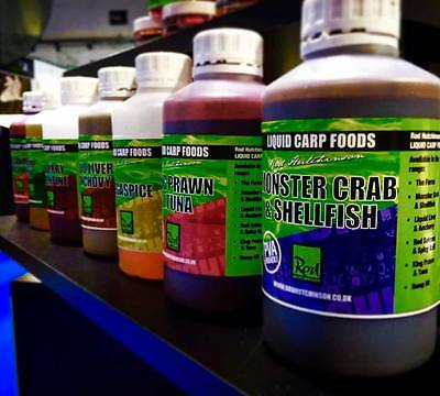 Brand New Rod Hutchinson Liquid Carp Foods 500ml Bottle - All Flavours Available