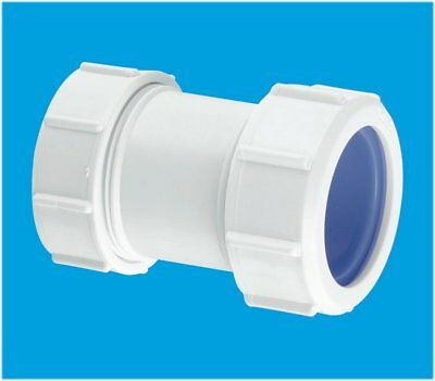 "European Pipe Adaptor 40mm to 1 1/4"" 34mm - 36mm McALPINE ST28L-ISO Joiner"