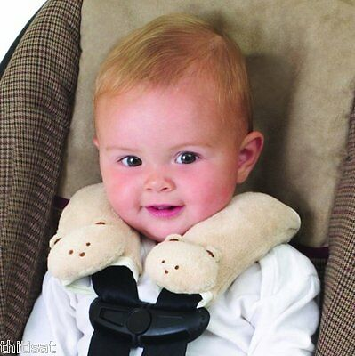 Infant Baby Car Seat Belt Strap Cover Pad Soft Safety Shoulder Pillow Cushy Neck