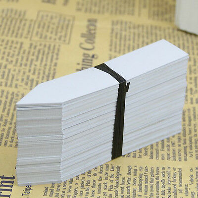 100 Pcs Plastic Plant Seed Labels Pot Marker Nursery Garden Stake Tags  FlyP