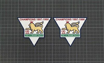 Premier League Gold Champions Patches/Badges 1997-1998 Arsenal