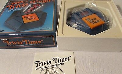 Trivial Pursuit Timer  Model No 7-912 New In Package Unused