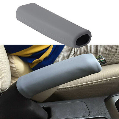 Gray Car Anti Slip Silicone Parking Hand Brake Boot Cover Lever Sleeve Handle
