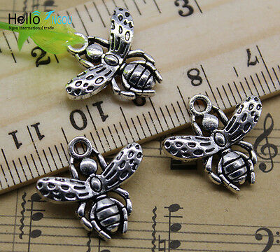 wholesale Retro Jewelry Making DIY lovely bees alloy charms pendants DIY 17x17mm