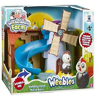 Weebles Wobbily Farm Mill & Barn Toy Game Kids Play Gift Christmas Classic Toys