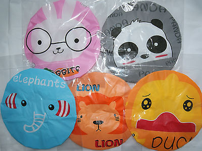 ANIMAL BATH SHOWER HAT CAP LION ELEPHANT PANDA RABBIT DUCK KITTY children kids
