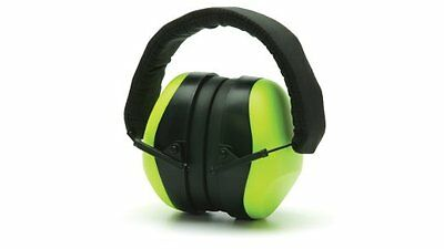 Pyramex Ear Defenders PM80, Hi-Vis Lime Ear Protection Ear Plugs Ear Muffs