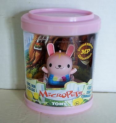 MicroPets ~  TOMY ~ Bunny ~ Limited Edition ~ 2002 ~ NIP ~ Factory Sealed