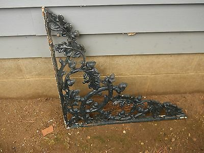 wrought iron bracket vintage heavy