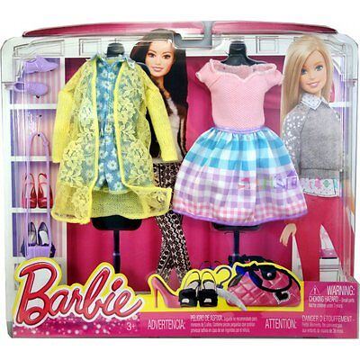Mattel Barbie - Fashion - Pack Pink Dress & Light Blue Outfit (2Pack) (Dhb44)