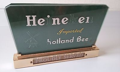 "Heineken Vintage Electric ""Proudly Served"" Lighted Display Sign 6 1/2x10"