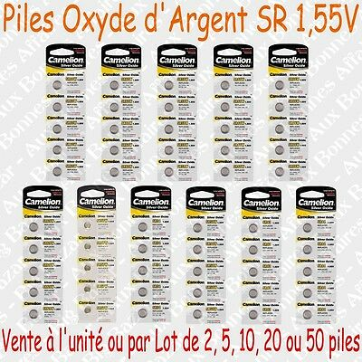Piles boutons 1,55V Oxyde d'Argent 162 164 171 177 186 189 192 195 196 357 379S