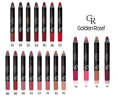 Golden Rose Matte Lipstick Crayon Pencil vitamin E, BEST PRICE, FREE UK DELIVERY