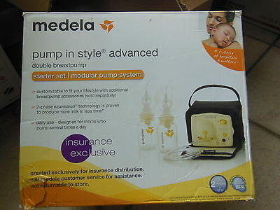 Medela Pump In Style Advanced Breastpump Starter Set Model # 57081 opened box