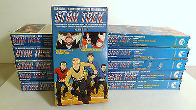 The Animated Adventures Of STAR TREK VHS COMPLETE 11 Tape SET Rare Filmation Lot