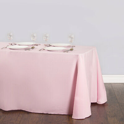 "8 packs Rectangle 90""x156"" inch Polyester Tablecloth 6ft Banquet Cover 18 Color"