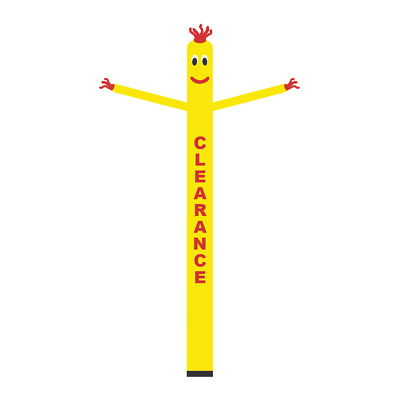 CLEARANCE Air Inflatable Sky Puppet Great Dancer - 20 FT Plain Yellow
