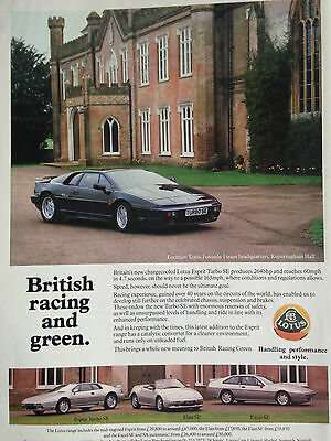 Lotus Model Range # Original Vintage Automotive Advert