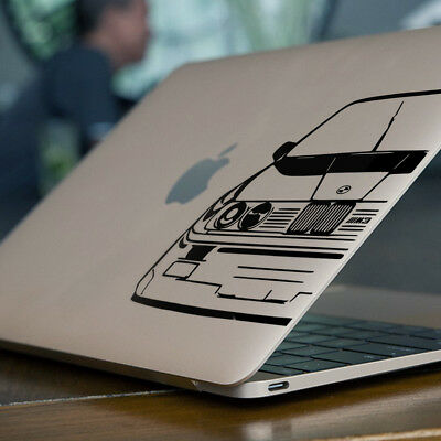 """BMW E30 M3 Apple MacBook Decal Sticker fits 11"""" 12"""" 13"""" 15"""" and 17"""" models"""