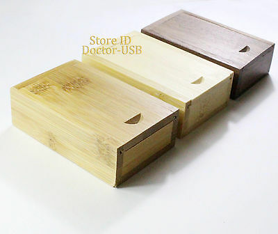 10PCS 16GB Wood Memory Flash Thumb Stick Pendrive Wooden Gift Case USB Drive 2.0