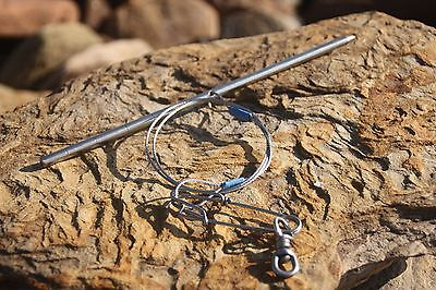 Fish Stringer Spearfishing stainless steel 250mm with Shark clip by ruminex