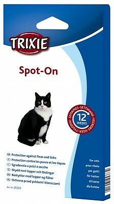 Spot On - Anti Parasite Fleas Lice Ticks Drops for Cat - Up to 12 weeks - TRIXIE