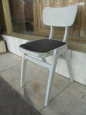 Vintage 1950's Painted Wooden Kitchen Dining Chair / Retro Desk Chair