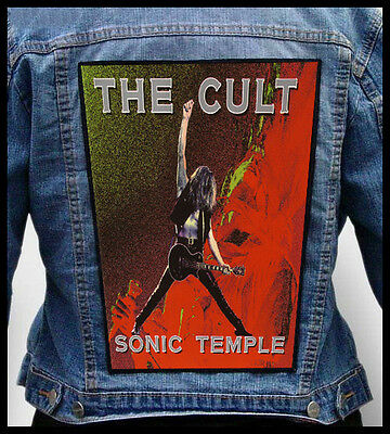 THE CULT - Sonic Temple  --- Giant Backpatch Back Patch