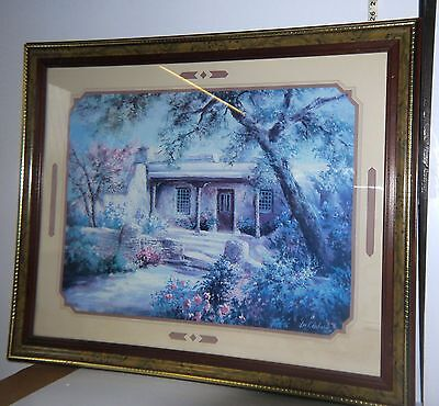 """VNT 1990 Home Interior Framed Painting by Lee K Parkinson """"Entrance with Roses"""""""
