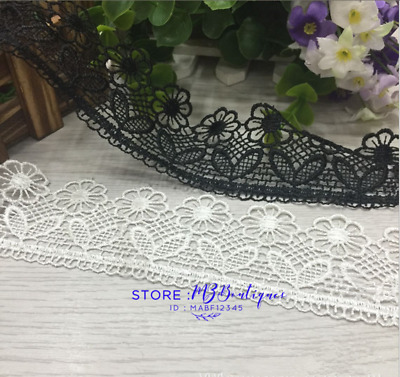 1 Yard Lace Trim Ribbon For Wedding Bridal Dress Embroidered Sewing Crafts FP126