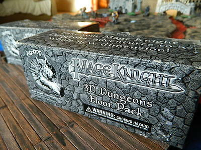 Mage Knight 3D Dungeons Floor Pack. complete! D&D minis RPG castle terrain