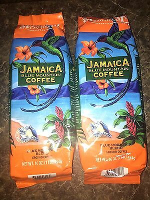 2 Magnum Jamaican Blue Mountain Blend Coffee Cafe Ground 1 Lb Bags