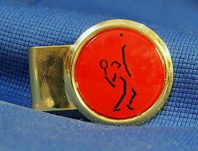A Large Vintage Mystery Tennis Official Badge / Tie Clip by HIT USA
