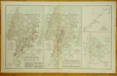 Authentic Civil War Map~Chickamauga Campaign ~ Turkeytown Valley Ala -1863-64