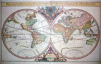 World Map: Large Decorative Reproduction of the Sanson-Jaillot chart