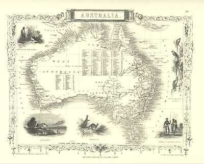 Tallis Map of Australia or New Holland