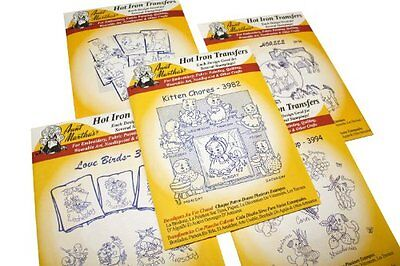 AUNT MARTHA's Iron on Transfer Patterns for Stitching Embroidery or Fabric Pa...