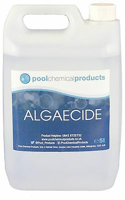 5L of Algaecide for Swimming Pools, Spas & Hot Tubs