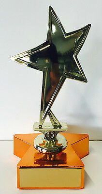 Gold Star Victory Achievement Trophy Award 155mm Free Engraving