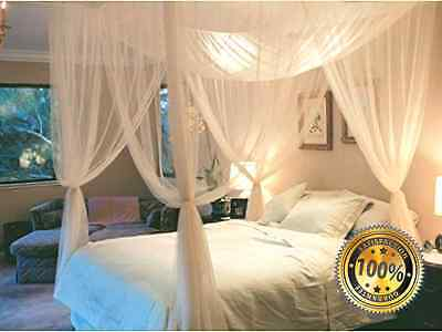 Super buy 4 Corner Post Bed Canopy Mosquito Net Full Queen King Size Netting Bed