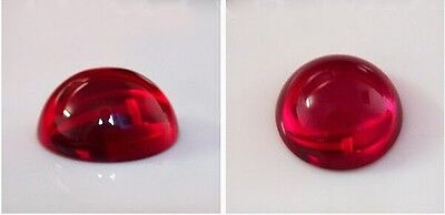 Lab Created Hydrothermal Red Ruby AAA Round Cabochon Loose stone (2mm - 13mm)